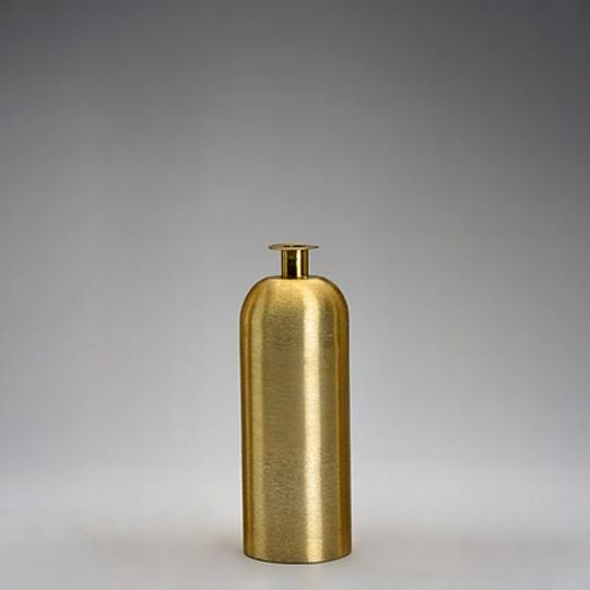 Vaso Cilindro Ouro Escovado Pequeno
