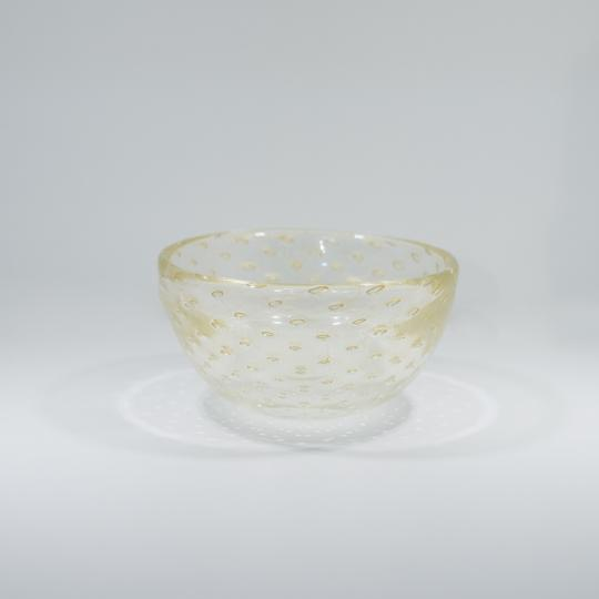 Bowl Tela Transparente com Ouro-E