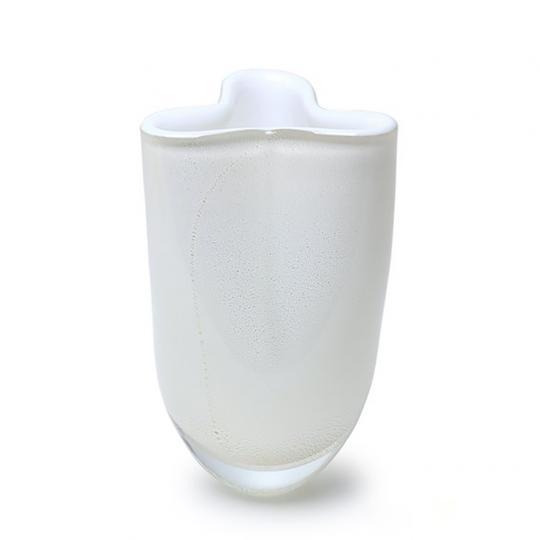Vaso Trevo Mini Branco com Ouro-E