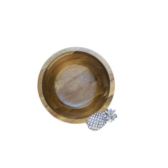 Bowl em Madeira Abacaxi