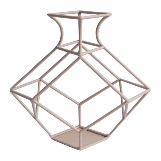 Vaso Decorativo de Metal Rose M