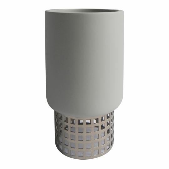 Vaso Decorativo de Resina e Metal