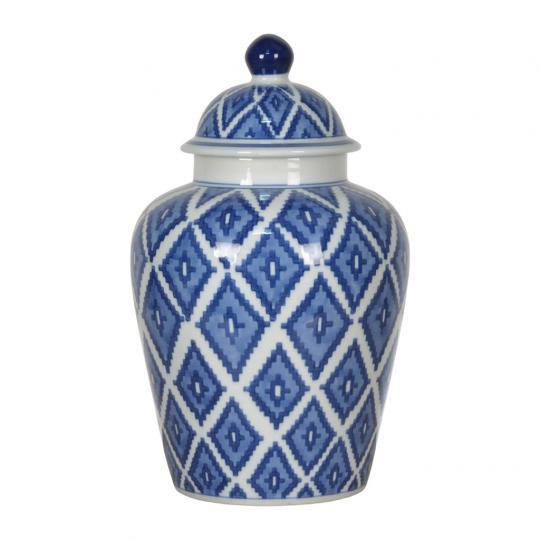 Potiche de Porcelana Azul Escuro