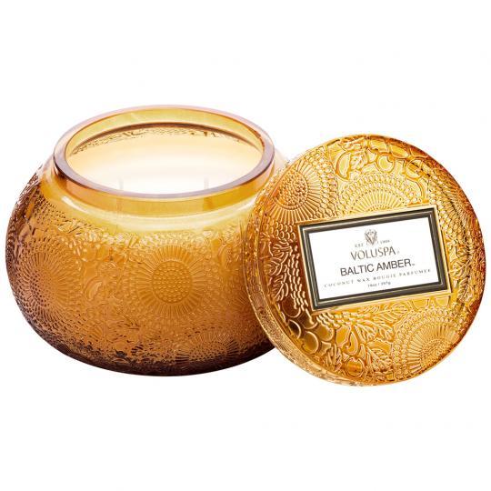 Vela Pote Vidro Chawan 50 Horas Baltic Amber
