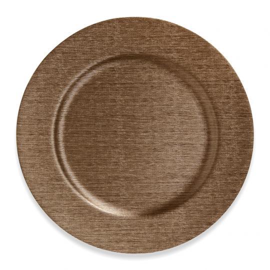 Sousplat Texture Metalizado Bronze
