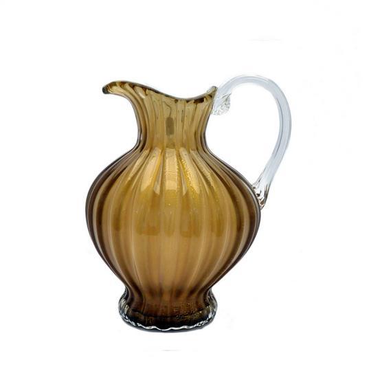 Jarra Decorativa de Murano Café com Ouro P