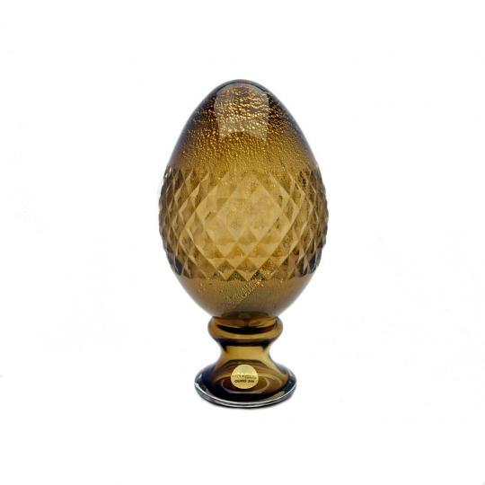 Pinha de Murano com Ouro Marrom