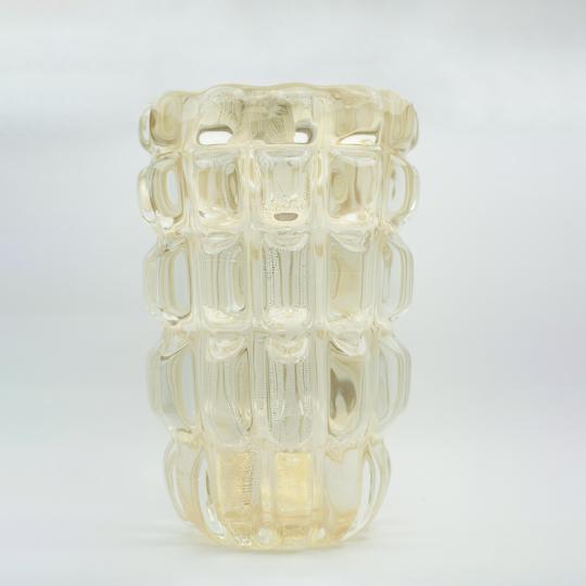 Vaso com Ouro Transparente com Ouro