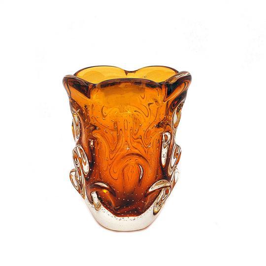Mini Vaso de Cristal Ambar