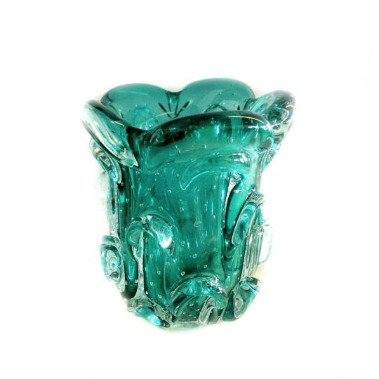 Mini Vaso de Cristal Verde Esmeralda