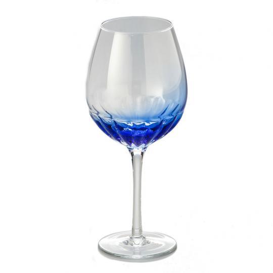 Jogo de 06 Taças de Água Transparente com Azul