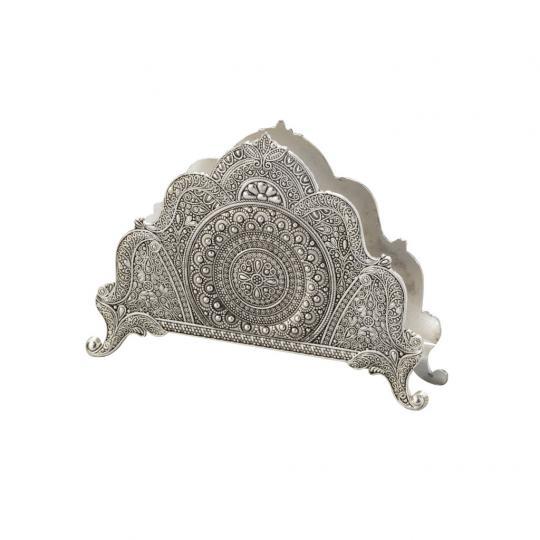 Porta Guardanapo Silver Plated Marrocos