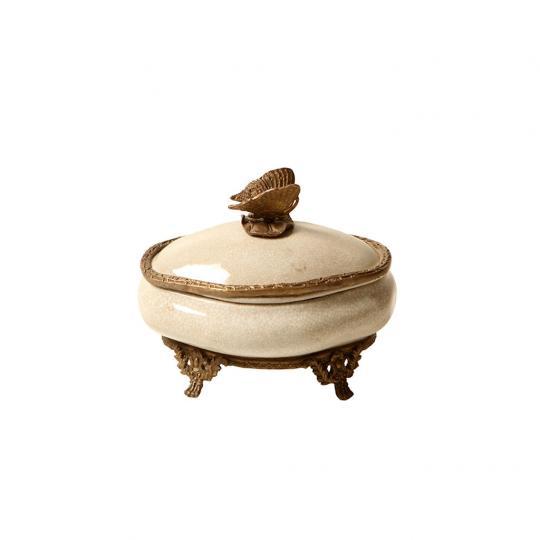 Caixa Decorativa de Porcelana Amur IV