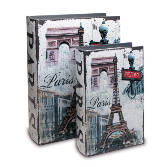 Jogo com 2 Caixas Livros Paris