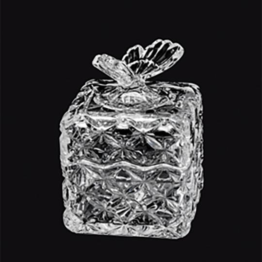 Bomboniere de Cristal com tampa Borboleta
