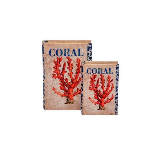 Conjunto Caixa Livro Coral