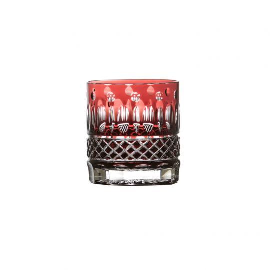 Copo Whisky Vermelho Claude Cristal