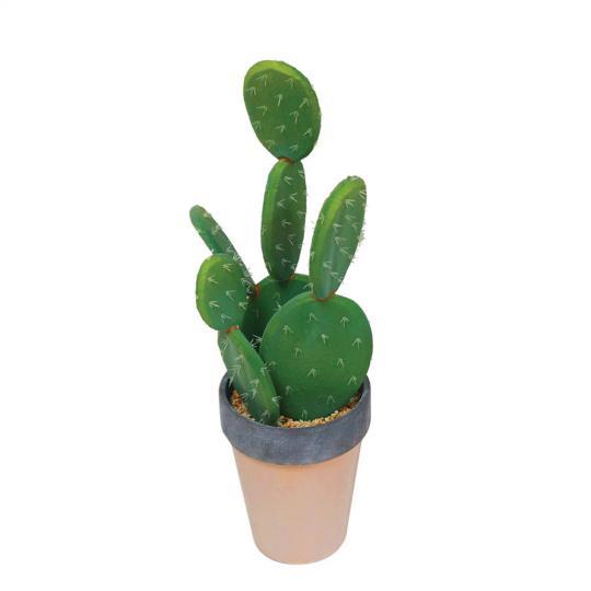 Cacto Decorativo com Vaso de Cerâmica Deserto