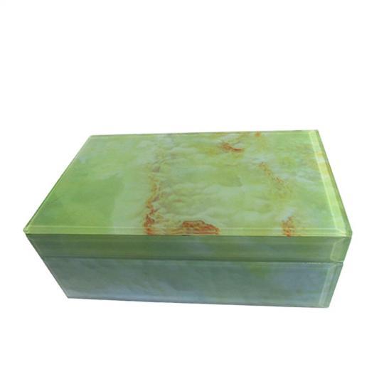 Caixa de Resina Verde Marmorizada