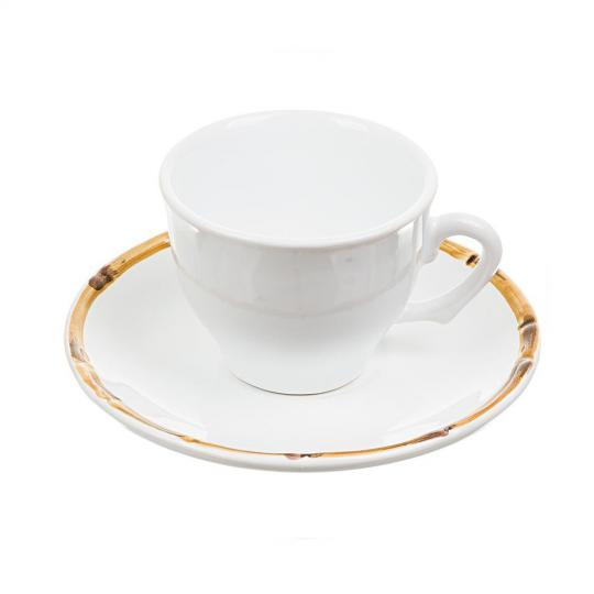 Conjunto com 6 xícaras de Chá com Píres Bambu