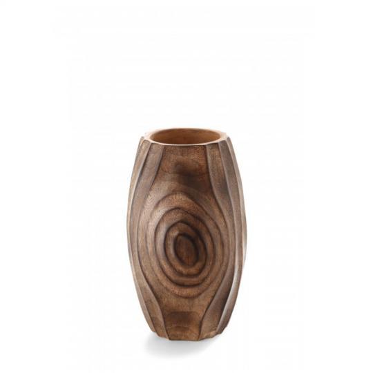 Vaso Art Wood Madeiro Médio
