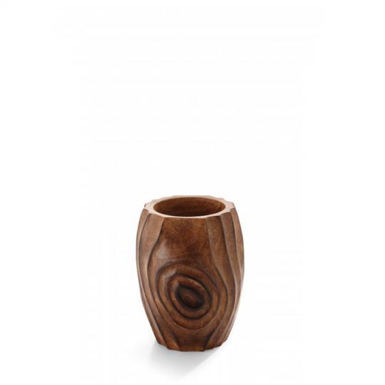 Vaso Art  Wood Madeiro Pequeno