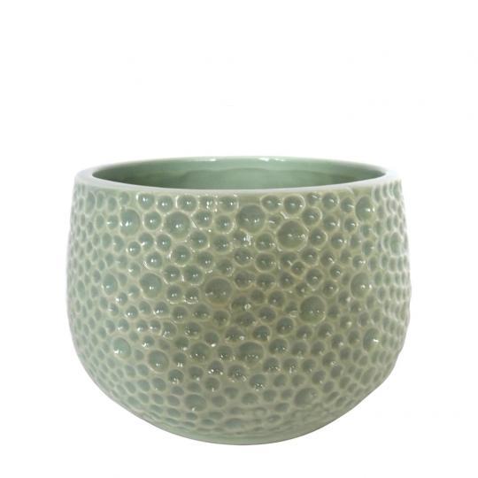 Vaso de Cerâmica Verde Bubble