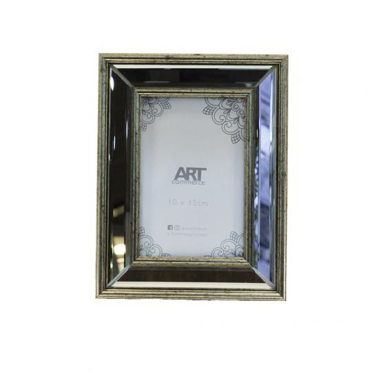 Porta Retrato Moldura Abaulada Espelhada