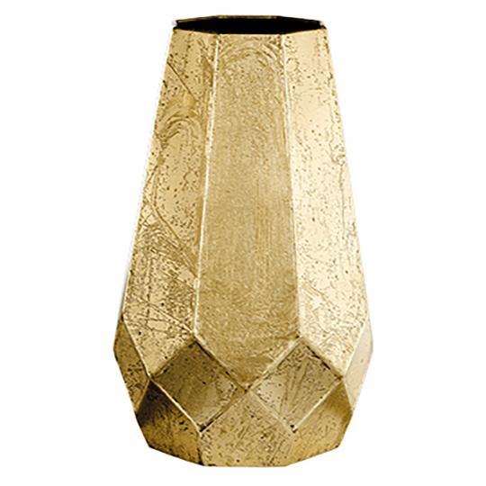 Vaso em Metal Dourado