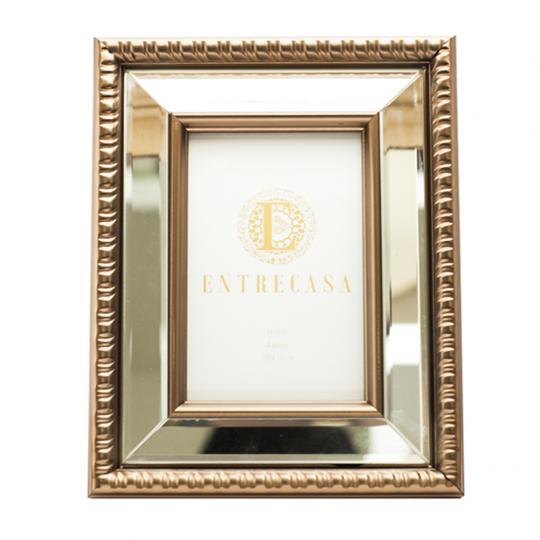Porta Retrato Mdf Detalhe Espelho G