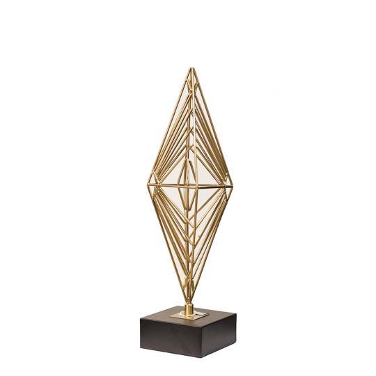 Objeto Metal Triangular P