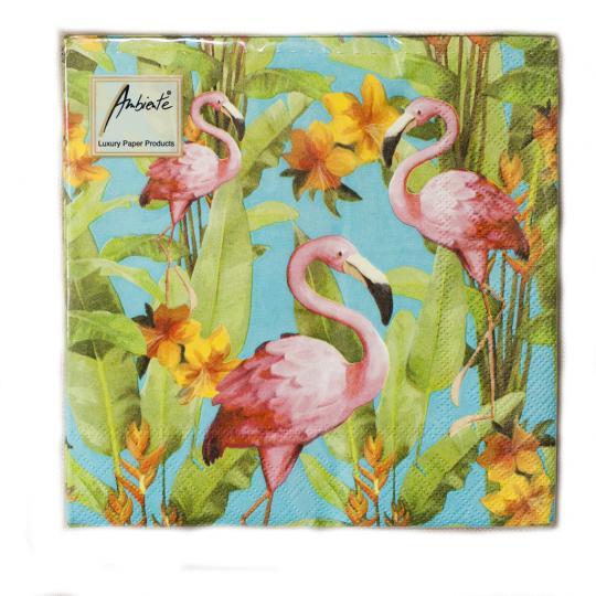 Pacote Guardanapo Flamingo Mix