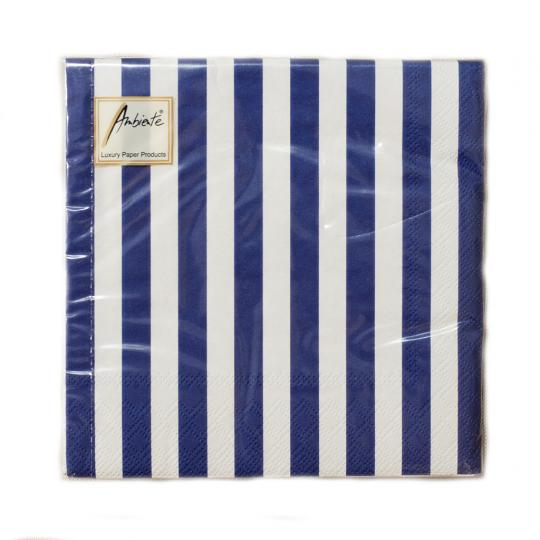 Pacote Guardanapos Stripes Navy Blue