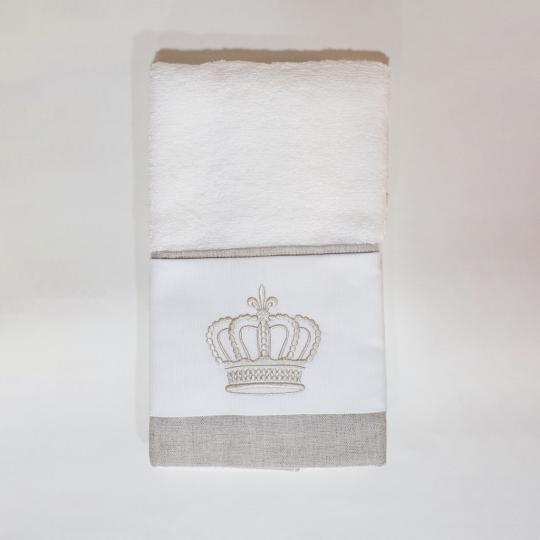Toalha Lavabo Coroa Bege