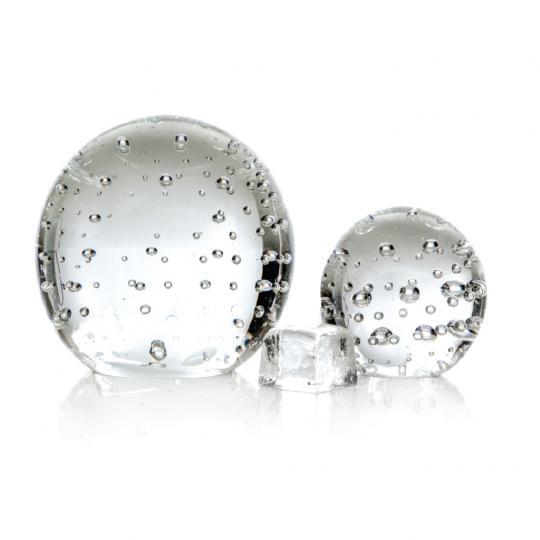 Peso de Cristal Grande com Bolha
