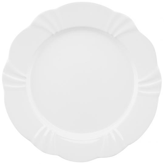 Jogo com 06 Pratos de Porcelana Rasos Soleil White