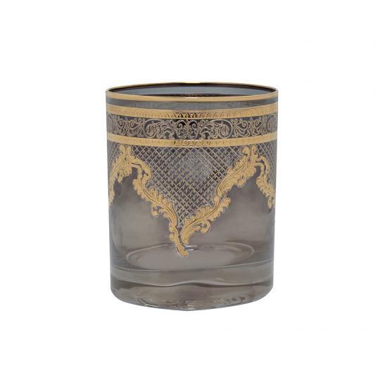 Copo de Cristal para Whisky Preto