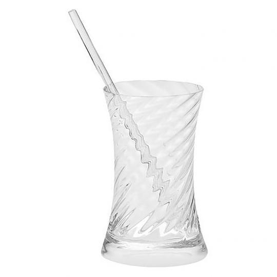 Copo de Cristal para Caipirinha com Mexedor Twist
