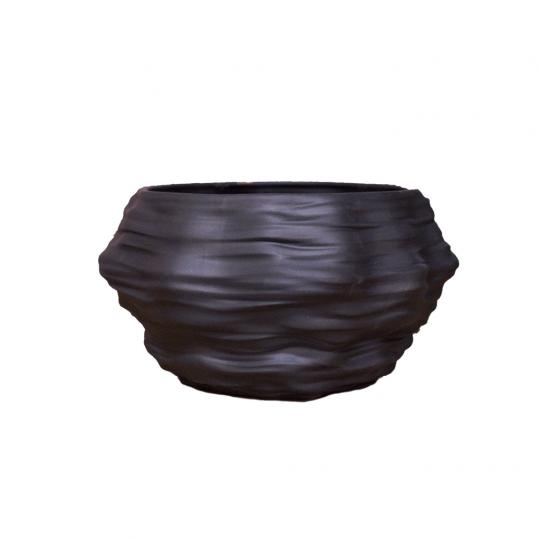 Cachepot Mineral Grande Preto
