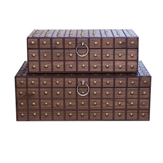 Conjunto com 02 Caixas Retangular em Taxa