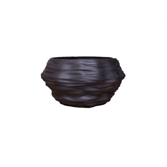 Cachepot Mineral P Preto
