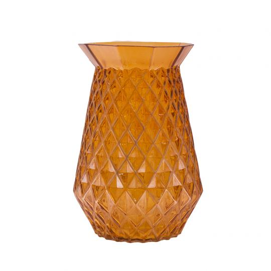 Vaso Decorativo de Vidro na Cor Laranja P