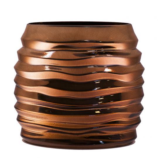 Vaso Decorativo de Vidro na Cor Bronze G