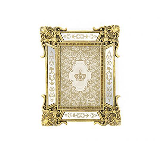 Porta Retrato Antique Dourado em Poliresina