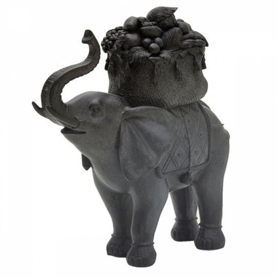 Figura Decorativa de Resina Elefante