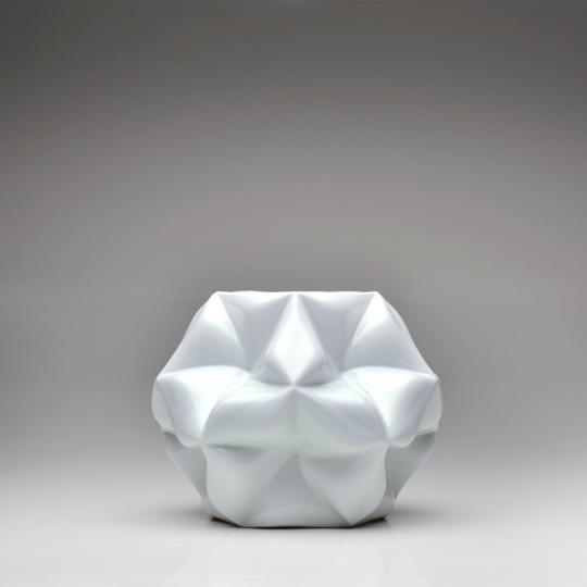 Vaso Cosmos Branco Fosco