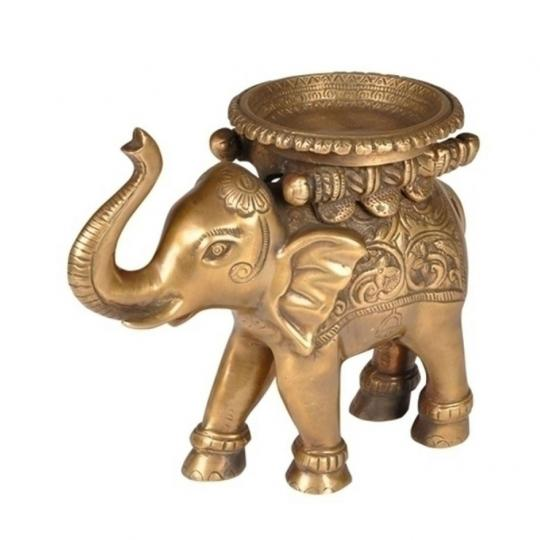 Elefante Decorativo Indiano de Bronze