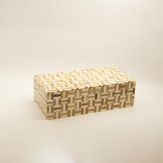 Caixa de Osso Decorativa com Detalhes Pequena