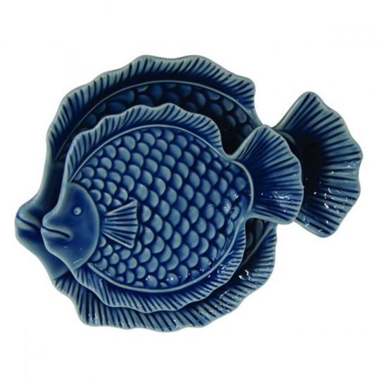 Conjunto de Prato de Peixe 02 Peças
