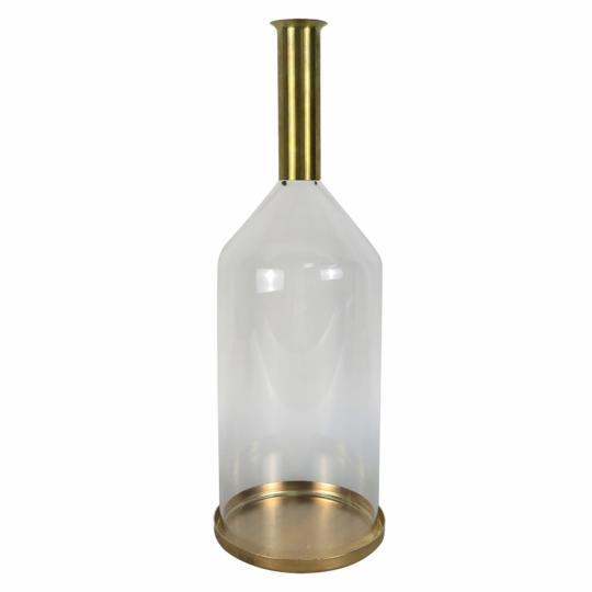 Lanterna de Vidro com Dourado G